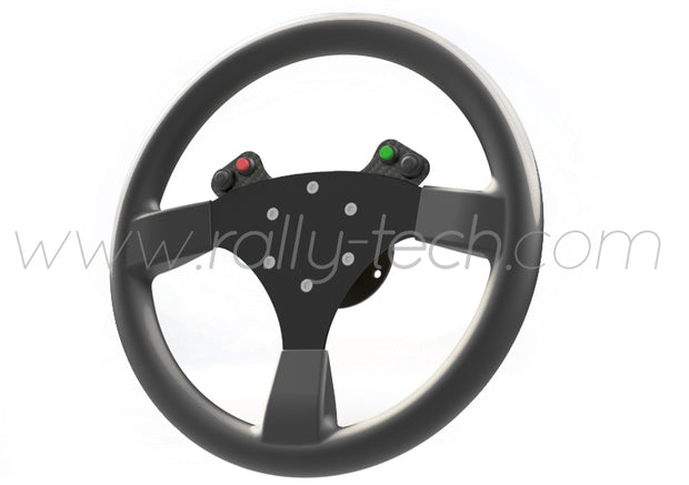 STEERING WHEEL BUTTON KIT - UNIVERSAL - CARBON FIBER - 4 BUTTON