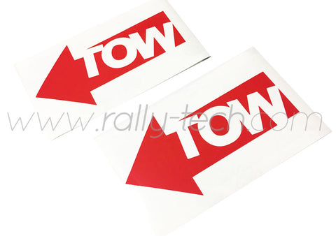 SAFETY DECAL - TOW DECAL STICKER SET