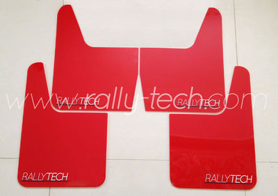 4MM POLYURETHANE MUDFLAP KIT - UNIVERSAL - RED