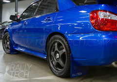 4MM POLYURETHANE MUDFLAP KIT - IMPREZA GD/GG (02-07) - BLUE, WHITE COOL STORY