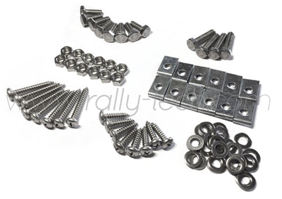 4MM MUDFLAP BOLT/NUT/SCREW/WASHER/CLIP KIT - EVOLUTION 5/6