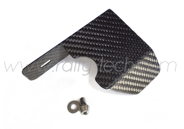 4G63 CAM POSITION ANGLE SENSOR HEAT SHIELD - CARBON FIBER - LANCER EVO 4, 5, 6, 7, 8, 9