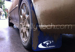 4MM POLYURETHANE MUDFLAP KIT - IMPREZA GC/GM/GF (93-01) - BLUE - AWD