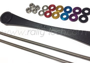 BILLET ALUMINUM BATTERY TIE DOWN & BATTERY ROD COMBO PACK