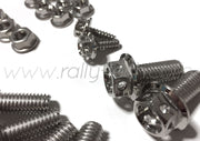 DRILLED ENGINE BAY DRESS UP BOLTS - SUBARU EJ - SILVER
