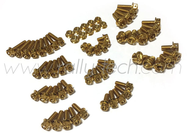 DRILLED ENGINE BAY DRESS UP BOLTS - EVO 4G63 - GOLD