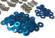ENGINE BAY DRESS UP BOLT KIT - MACHINED HEADS - SUBARU EJ ENGINE - BLUE