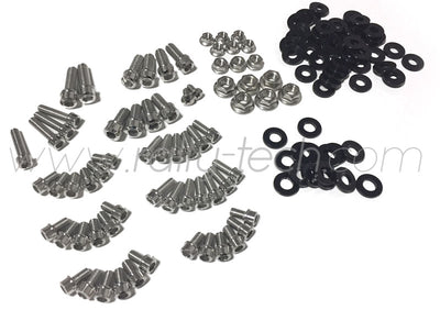 ENGINE BAY DRESS UP BOLT KIT - MACHINED HEADS - SUBARU EJ ENGINE - BLACK