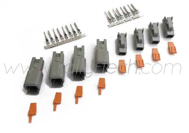 DTM 2 PIN SEALED MOTORSPORT CONNECTOR PLUG KIT - FOUR PACK - UNIVERSAL