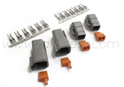 DTM 6 PIN SEALED MOTORSPORT CONNECTOR PLUG KIT - TWIN PACK - UNIVERSAL
