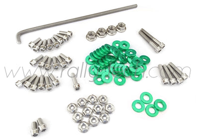 ENGINE BAY DRESS UP BOLT KIT - HONDA K20 - GREEN