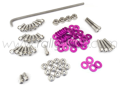 ENGINE BAY DRESS UP BOLT KIT - HONDA K20 - PURPLE