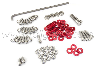 ENGINE BAY DRESS UP BOLT KIT - HONDA K20 - RED