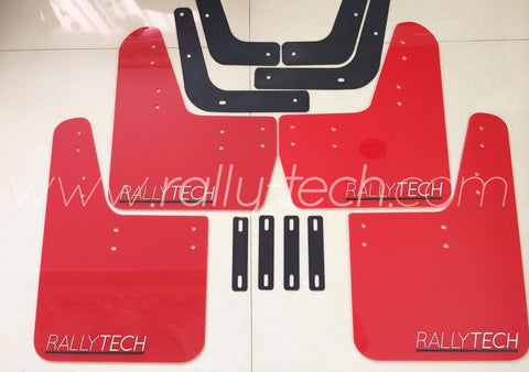 4MM POLYURETHANE MUDFLAP KIT - LANCER EVO 5 & 6 - RED