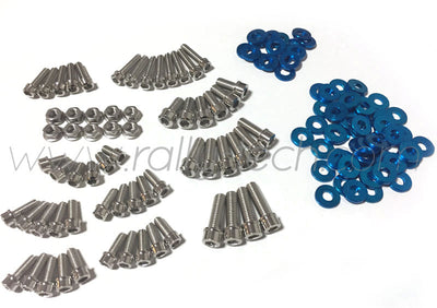ENGINE BAY DRESS UP BOLT KIT - LANCER EVO 4, 5, 6, 7, 8, 9 - BLUE