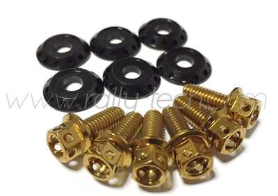 FENDER DRESS UP BOLT KIT - EVO - GOLD