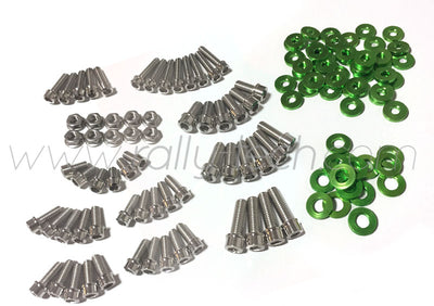 ENGINE BAY DRESS UP BOLT KIT - LANCER EVO 4, 5, 6, 7, 8, 9 - GREEN