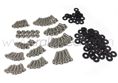 ENGINE BAY DRESS UP BOLT KIT - LANCER EVO 4, 5, 6, 7, 8, 9 - BLACK
