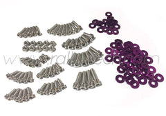 ENGINE BAY DRESS UP BOLT KIT - LANCER EVO 4, 5, 6, 7, 8, 9 - PURPLE