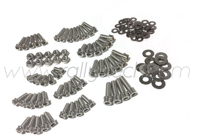 ENGINE BAY DRESS UP BOLT KIT - LANCER EVO 4, 5, 6, 7, 8, 9 - SILVER