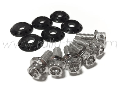 FENDER DRESS UP BOLT KIT - EVO - SILVER