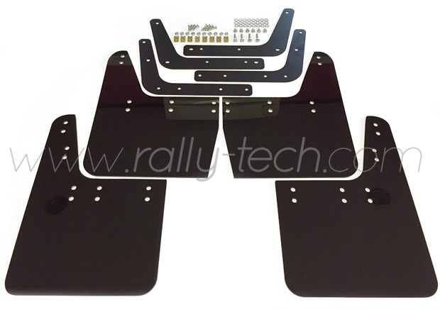 4MM POLYURETHANE MUDFLAP KIT - IMPREZA GC/GM/GF (93-01) - BLACK