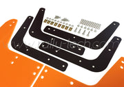 4MM POLYURETHANE MUDFLAP KIT - IMPREZA GC/GM/GF (93-01) - ORANGE - WHITE RSTI