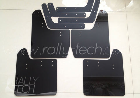 4MM POLYURETHANE MUDFLAP KIT - IMPREZA GD/GG (02-07) - BLACK, NO LOGO