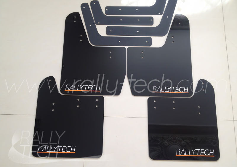 4MM POLYURETHANE MUDFLAP KIT - IMPREZA GD/GG (02-07) - BLACK - CLASSIC ORANGE