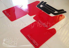 4MM POLYURETHANE MUDFLAP KIT - IMPREZA GD/GG (02-07) - RED