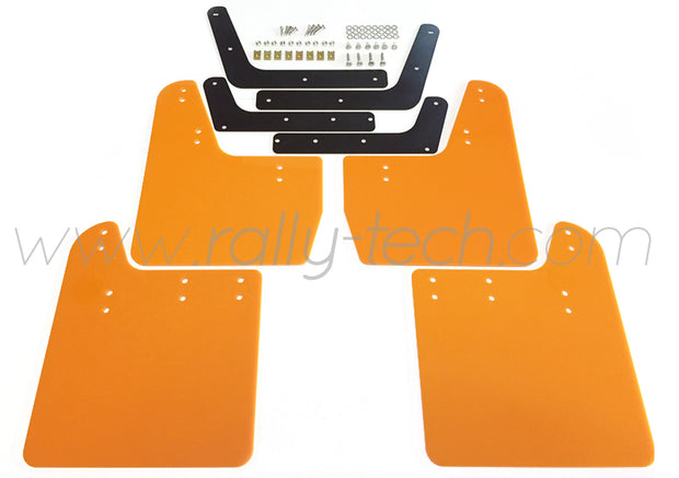 4MM POLYURETHANE MUDFLAP KIT - IMPREZA GD/GG (02-07) - ORANGE
