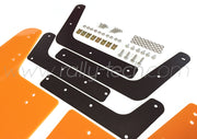 4MM POLYURETHANE MUDFLAP KIT - IMPREZA GD/GG (02-07) - ORANGE - AWD RETRO W