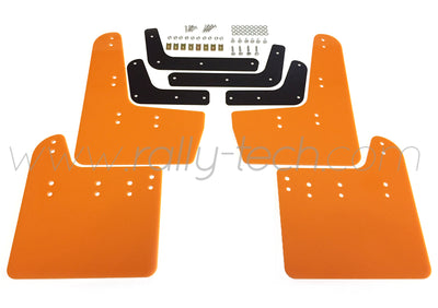 4MM POLYURETHANE MUDFLAP KIT - IMPREZA GR/GV (08-13) - ORANGE