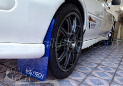 4MM POLYURETHANE MUDFLAP KIT - IMPREZA GC/GM/GF (93-01) - BLUE CUSTOM LOGO