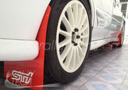 4MM POLYURETHANE MUDFLAP KIT - IMPREZA GC/GM/GF (93-01) - RED - RALLYTECH