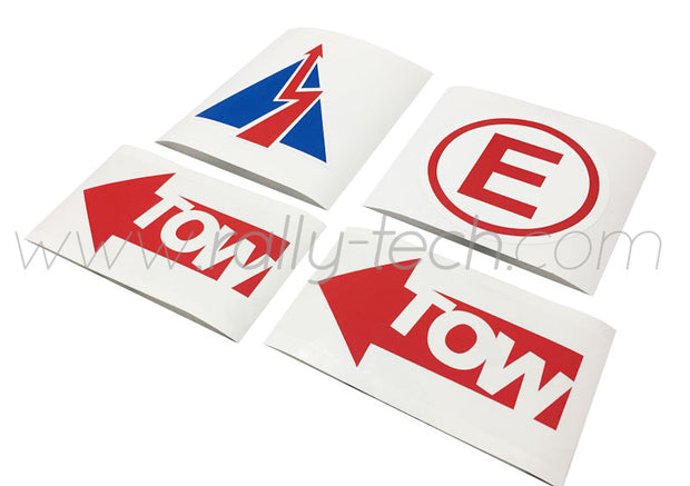 3M SAFETY DECAL KIT - FIRE EXTINGUISHER, BATTERY KILL & TOW DECALS - UNIVERSAL