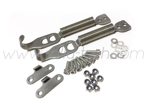 BUMPER SPRING / TRUNK LATCH KIT - UNIVERSAL - TWIN PACK (2 PAIRS)