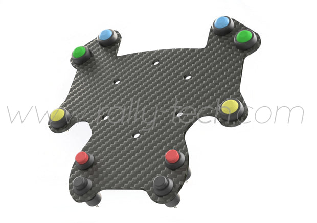 STEERING WHEEL BUTTON KIT GT STYLE - UNIVERSAL - CARBON FIBER - 10 BUTTON