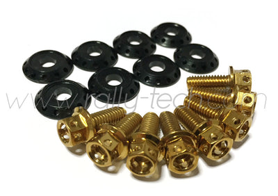 FENDER DRESS UP BOLT KIT - SUBARU - GOLD