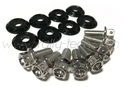 FENDER DRESS UP BOLT KIT - SUBARU - SILVER
