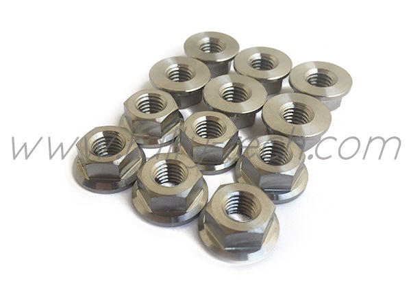STRUT TOWER NUT SET TWIN PACK - TITANIUM Ti Gr5 - SUBARU