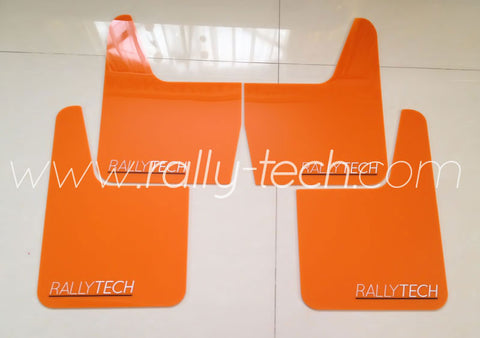 4MM POLYURETHANE MUDFLAP KIT - UNIVERSAL - ORANGE