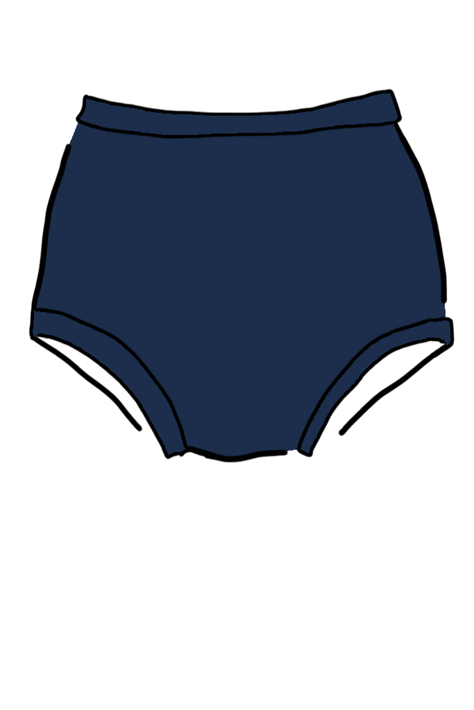 Navy Swimwear High Waisted Pant