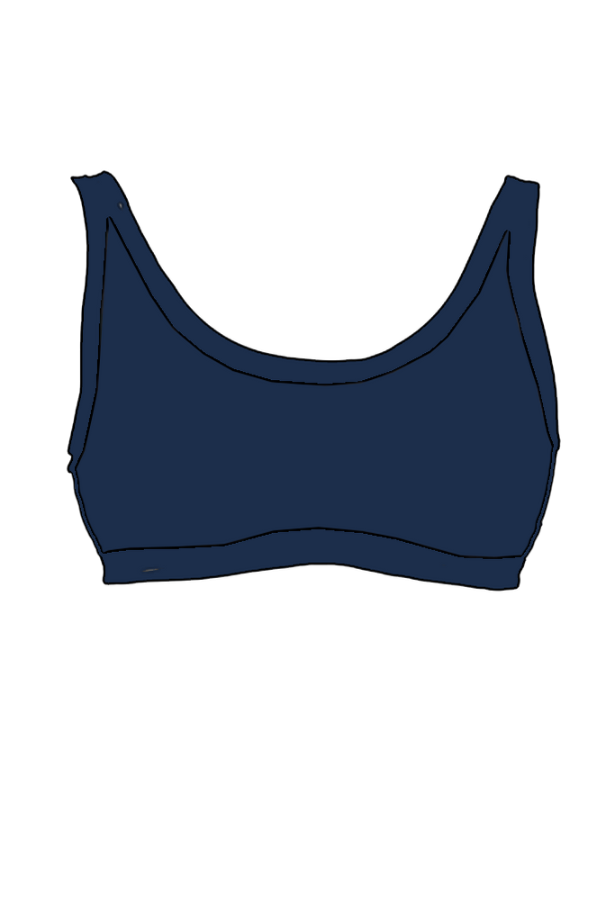 Navy Swimwear Crop