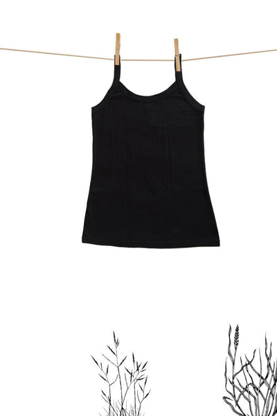 Womens Cami Plain Black