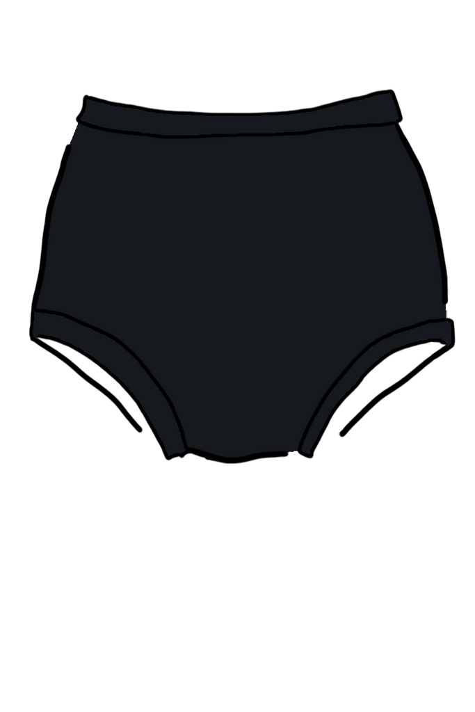 Black Swimwear High Waisted Pant