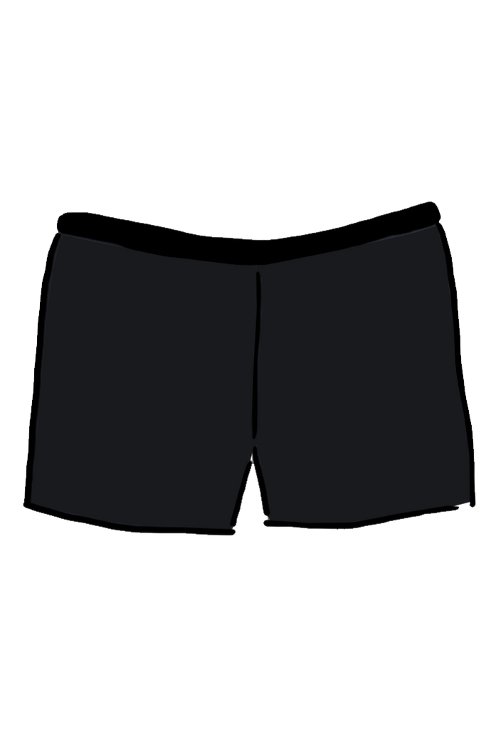 Black Swimwear Boyleg