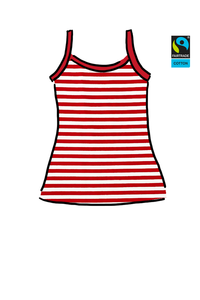Womens Cami Candy Cane Stripes