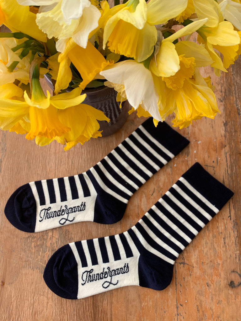 Socks French Navy Stripe