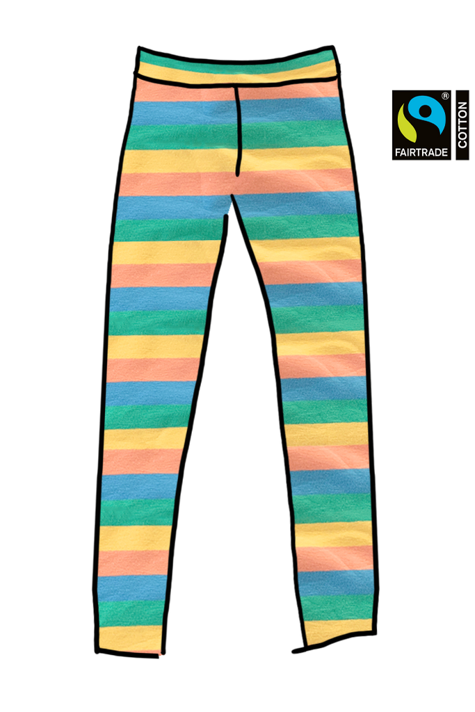 Self Banded Long Tights Pastel Rainbow